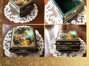Золотые стикеры в наборе на шкатулку Ш-36. Ярмарка Мастеров - ручная работа, handmade.