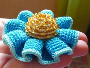 Вяжем с бисером серединку цветку. Ярмарка Мастеров - ручная работа, handmade.