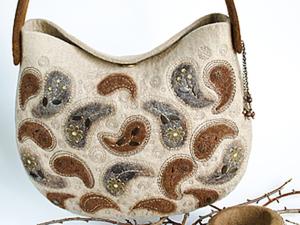 20714d9c2c4c Валяем стильную сумку из кардочёса – мастер-класс для начинающих и  профессионалов