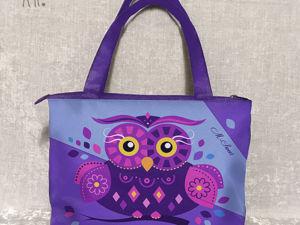 Сумка  «Совушка Фиолетовая». Ярмарка Мастеров - ручная работа, handmade.