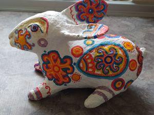 Пасхальный кролик из папье-маше. Часть 2. Ярмарка Мастеров - ручная работа, handmade.