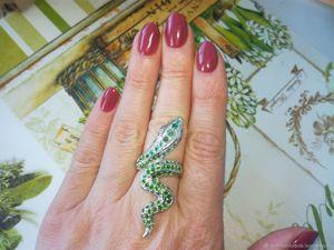 Скидка на кольцо с изумрудами!!!. Ярмарка Мастеров - ручная работа, handmade.