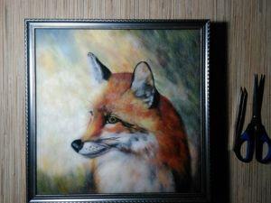 Картина из шерсти — лис. Ярмарка Мастеров - ручная работа, handmade.