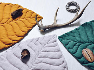 Simple Ideas for Home: Textile Leaves as Blankets and Carpets. Livemaster - handmade
