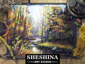 Видеоурок: рисуем сухой пастелью ручей в осеннем лесу. Ярмарка Мастеров - ручная работа, handmade.