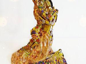 Статуэтка  «Влюбленные»  по мотивам Густав Климт Поцелуй. Ярмарка Мастеров - ручная работа, handmade.