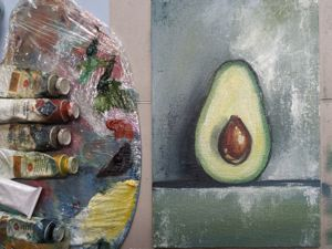 How to Paint an Avocado. Livemaster - hecho a mano - handmade.