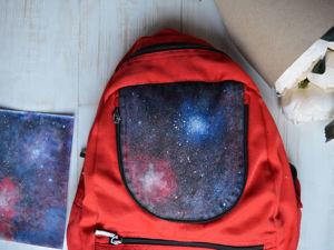 Рисуем космос на рюкзаке за несколько часов. Ярмарка Мастеров - ручная работа, handmade.