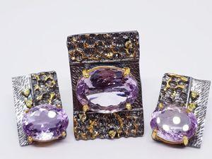 АКЦИЯ!!! — 25% при покупке кольца и серег комплектом + подарок!!!. Ярмарка Мастеров - ручная работа, handmade.