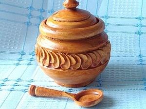 Вырезание солонки с круглыми листочками. Ярмарка Мастеров - ручная работа, handmade.