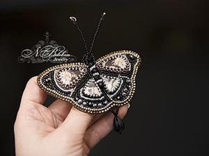 """Мастер-класс: вышивка бисером """"Брошь-бабочка экзотическая"""". Ярмарка Мастеров - ручная работа, handmade."""