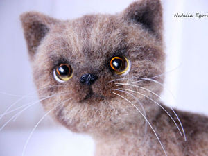 A Step by Step Guide on Felting an Adorable Kitten. Livemaster - handmade