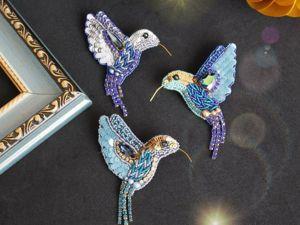 Создаем брошь колибри из бисера. Часть 1. Ярмарка Мастеров - ручная работа, handmade.