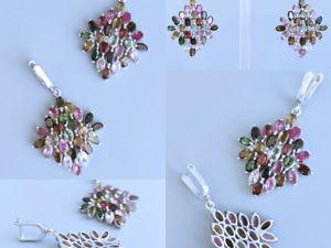 Серьги с турмалинами. Ярмарка Мастеров - ручная работа, handmade.