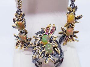Видео кольца и серег  «Тропиканка». Ярмарка Мастеров - ручная работа, handmade.
