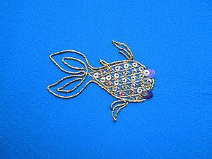 Вышивка золотой рыбки. Ярмарка Мастеров - ручная работа, handmade.