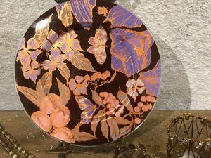 Роспись стеклянной тарелки Сказочный лес. Ярмарка Мастеров - ручная работа, handmade.
