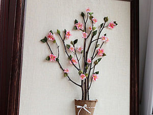 A Tree with Flowers: 3-D Painting DIY. Livemaster - handmade