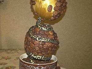 Создаем кофейный топиарий. Ярмарка Мастеров - ручная работа, handmade.