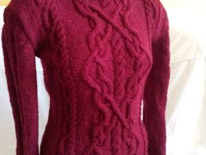 СКИДКА 28% на вязаный свитер. Ярмарка Мастеров - ручная работа, handmade.