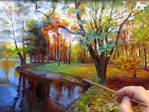 Пишем масляными красками осенний пейзаж. Ярмарка Мастеров - ручная работа, handmade.