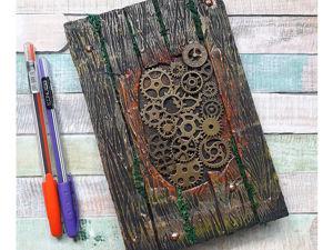 Декорируем блокнот своими руками. Имитация дерева. Ярмарка Мастеров - ручная работа, handmade.