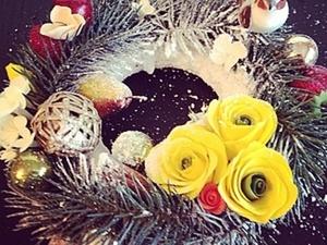 Рождественский веночек. Ярмарка Мастеров - ручная работа, handmade.