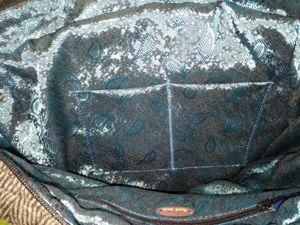 Внутренний карман передней стенки сумки. Ярмарка Мастеров - ручная работа, handmade.