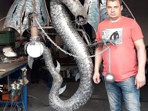 Дракон фонарь(ковка) из процесса. Ярмарка Мастеров - ручная работа, handmade.