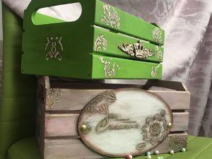 Простой и красивый декор интерьерного ящика своими руками. Ярмарка Мастеров - ручная работа, handmade.