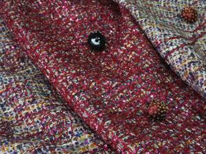 Костюмная ткань с узором и пайетками. Ярмарка Мастеров - ручная работа, handmade.