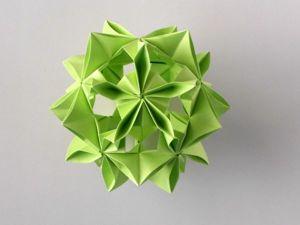 Собираем цветочную кусудаму из бумаги. Ярмарка Мастеров - ручная работа, handmade.