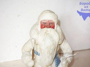 Реставрируем ватного Деда Мороза. Ярмарка Мастеров - ручная работа, handmade.