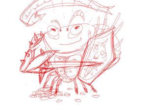 Рисую стикеры для игровой гильдии  «Хитрый краб». Ярмарка Мастеров - ручная работа, handmade.