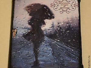 "Обложка на паспорт ""Мелодия дождя"". Ярмарка Мастеров - ручная работа, handmade."