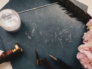 Упражнения по каллиграфии. Ярмарка Мастеров - ручная работа, handmade.