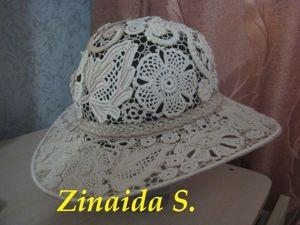 Шляпа в ирландском кружеве. Ярмарка Мастеров - ручная работа, handmade.