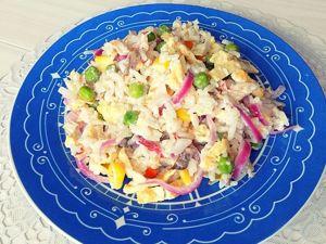 Салат из гавайской смеси овощей с курицей. Ярмарка Мастеров - ручная работа, handmade.