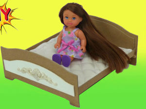 Как сделать кровать для куклы своими руками DIY. Ярмарка Мастеров - ручная работа, handmade.