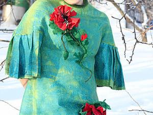 Создание валяного платья «Зеленая нимфа». Ярмарка Мастеров - ручная работа, handmade.