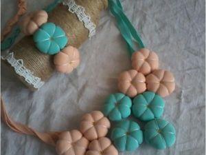 Как сделать из трикотажа необычный комплект украшений. Ярмарка Мастеров - ручная работа, handmade.