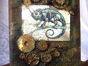Декорирование обложки блокнота в стиле стимпанк. Ярмарка Мастеров - ручная работа, handmade.