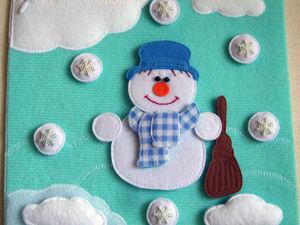 Шьем страницу развивающей книжки «Снеговик-пазл». Ярмарка Мастеров - ручная работа, handmade.