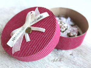 How to Make a Gift Box of Corrugated Cardboard. Livemaster - handmade