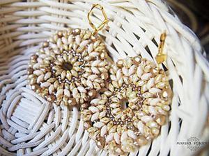 Изготавливаем «вязаные» сережки из супердуо. Ярмарка Мастеров - ручная работа, handmade.