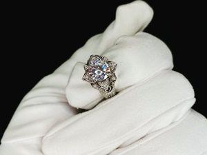 Золотое кольцо Цветок в наличии. Ярмарка Мастеров - ручная работа, handmade.
