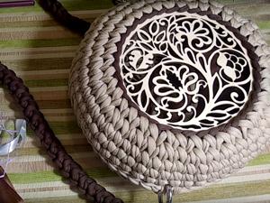 Crochet Round Bag With Insert. Livemaster - handmade