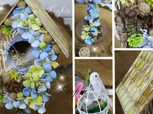 Создаем декоративный скворечник с птичками. Ярмарка Мастеров - ручная работа, handmade.