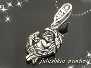Ювелирные украшение подвеска  «Спящий Ангел» . Ярмарка Мастеров - ручная работа, handmade.