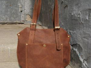 Сумка-LEDY-BAG2 Рыже-коричневая, отчет для Розы. Ярмарка Мастеров - ручная работа, handmade.